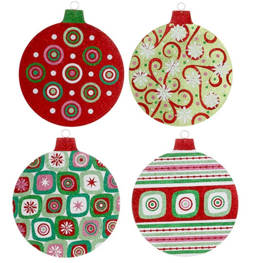 RAZ Cookie Confections 15 inch Flat Glittered Ball Ornament  shelley b home and holiday