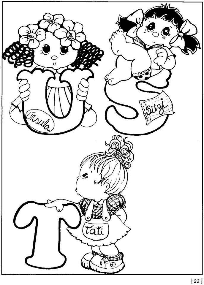 Alfabeto nombres de niñas | ESTAMPAR | Pinterest | Alfabeto ...