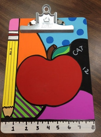 Custom Painted Clipboards by theartroomandcrafts on Etsy, $15.00