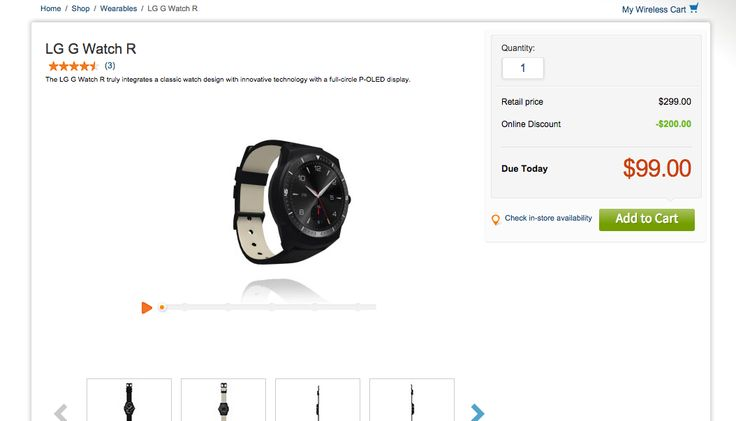 Hurry! The LG G Watch R On Sale Now For $99 - TechMalak
