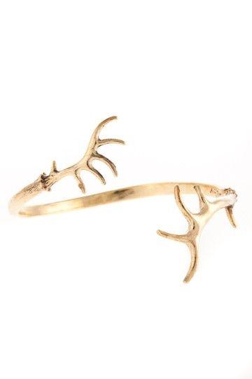 HORN - armband i justerbar storlek med renhorn - Horn - JohannaN - Designer