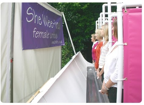 Shewee - portable urinating device that allows women to pee standing up.