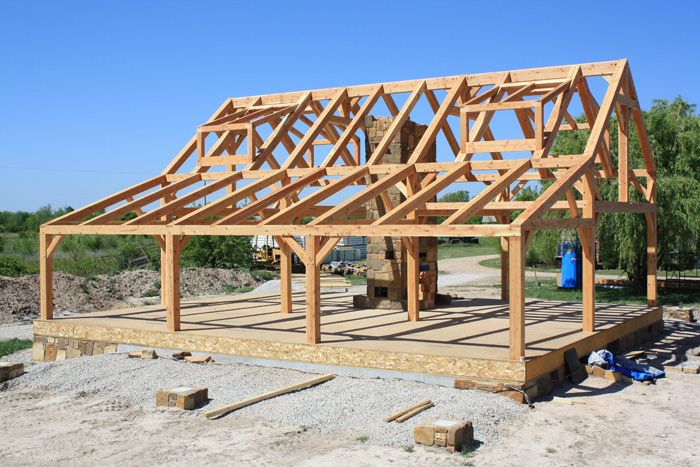 Cook Timberframe Co Woestman Cabin Project Building