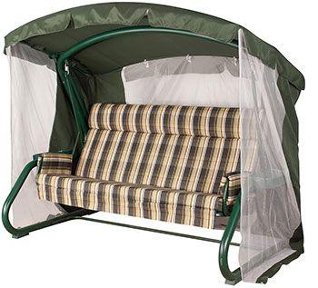 Москитная сетка для качелей Сорренто Премиум + Тент - Крыша - Цвет зеленый