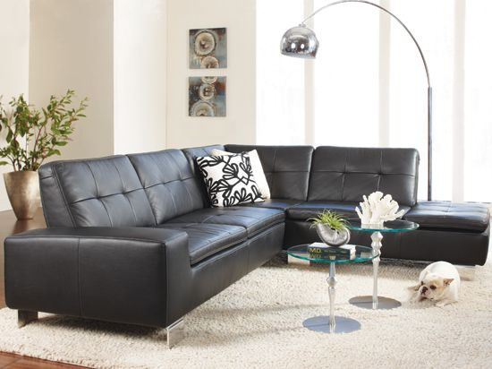 Francesca leather sectional for the home pinterest for Great room sectional