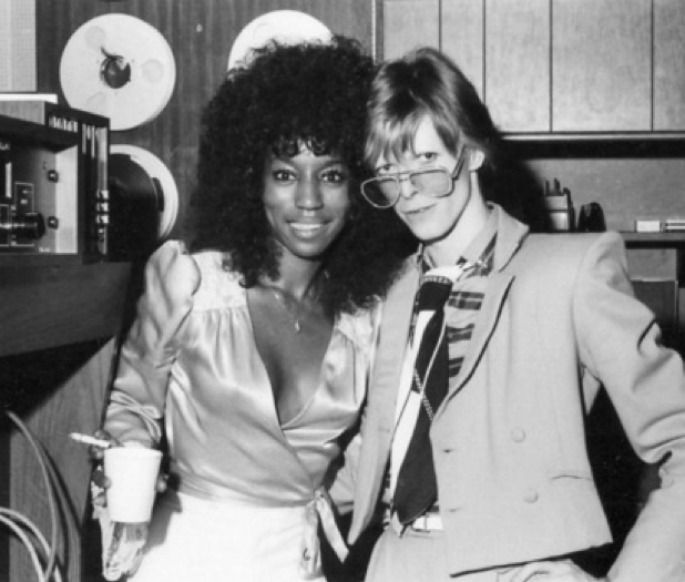 David Bowie with Claudia Lennear