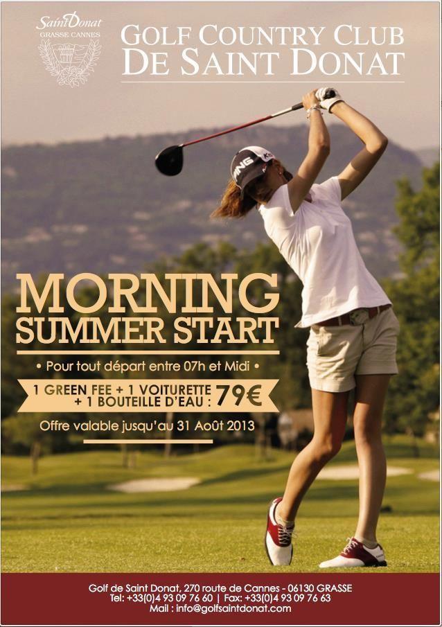 Affiche Morning Golf de St Donnat