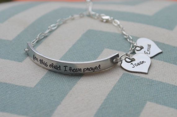 For This Child I Have Prayed bracelet...so cute