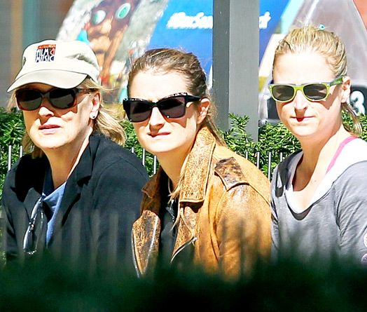 Celebrities and Their Lookalike Kids:   Meryl Streep and daughters  Women run this household! Meryl Streep is the proud mother of not one, not two, but three gorgeous gals -- Mamie, Grace, and Louisa Jacobson.