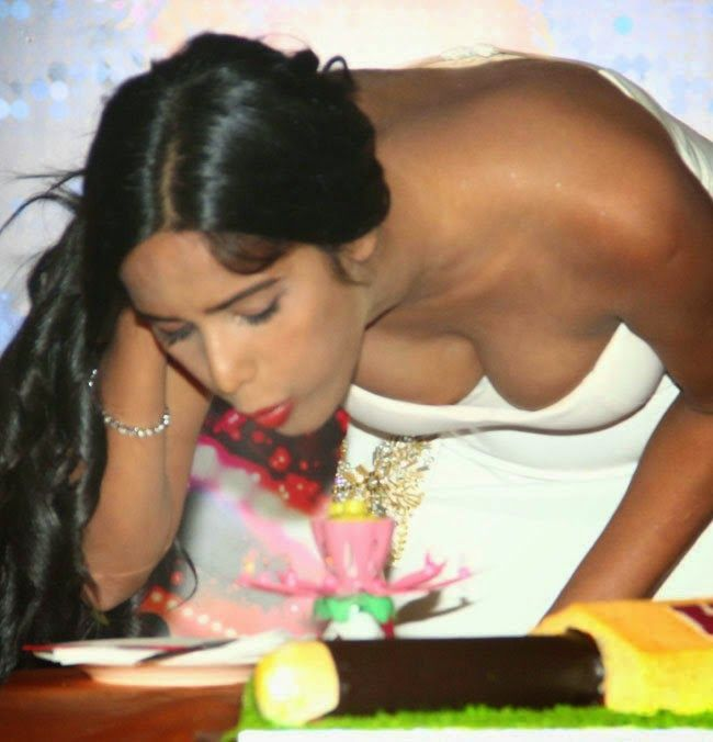 Poonam Pandey Sexy Cleavage Show at Helen Movie Poster Launch