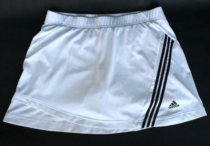 ADIDAS White SKORT (skirt/shorts) Ladies Size14 TENNIS Golf Badminton Sport #adidas