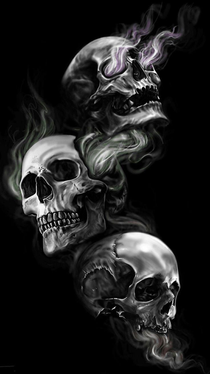 See Hear Speak No Evil Skulls