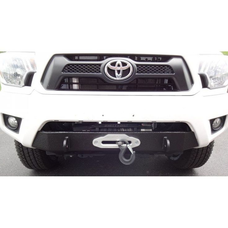U.S. Off Road Winch Mount Bumper on a white Tacoma 2012+