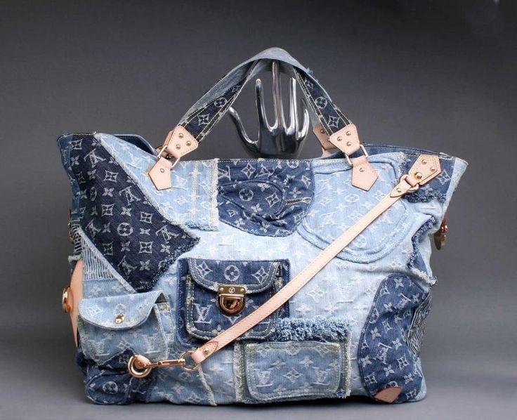 denim bag Bag from old jeans