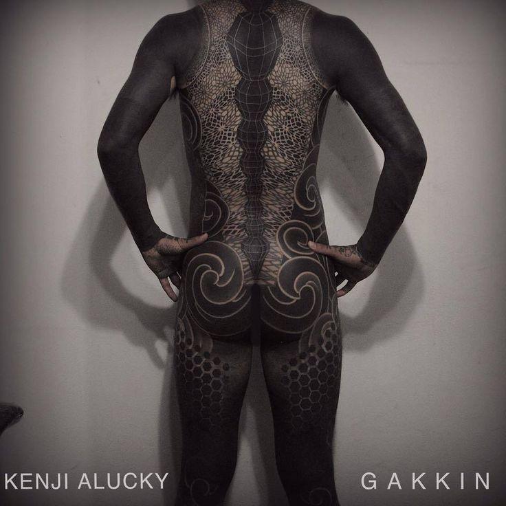 Blackwork type bodysuit. Collaboration between Gakkin and Kenji Alucky. Tattoo …