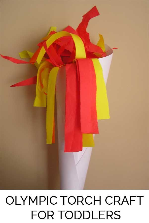 Olympic Torch Craft For Preschoolers