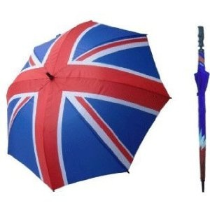 Union Jack Flag England United Kingdom Golf Umbrella - Celebrate Queen Elizabeths Diamond Jubilee