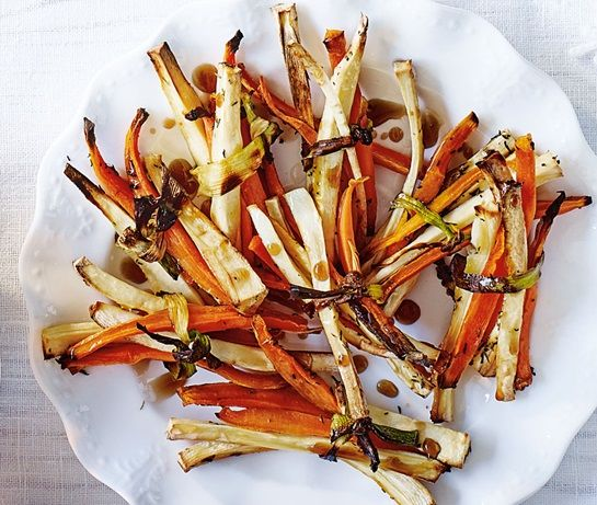 Roasted parsnip & carrot bundles | ASDA Recipes