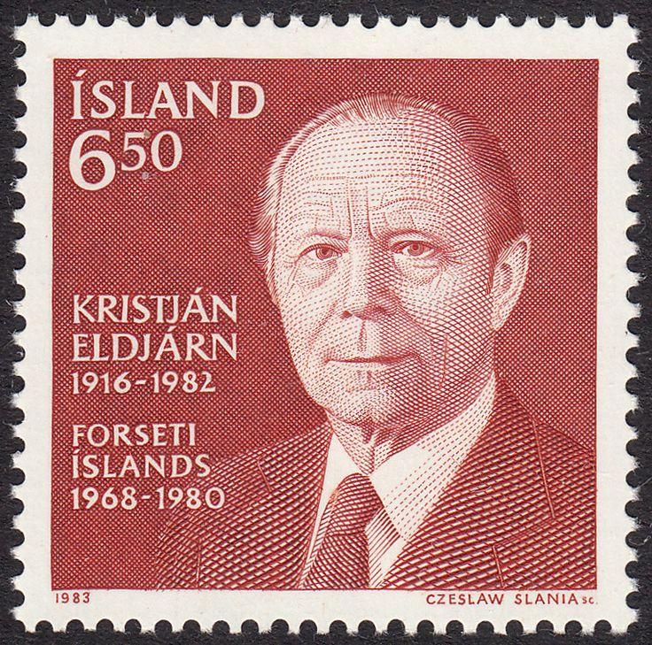 Iceland 1983 Icelandic president, Kristján Eldjarn (1916