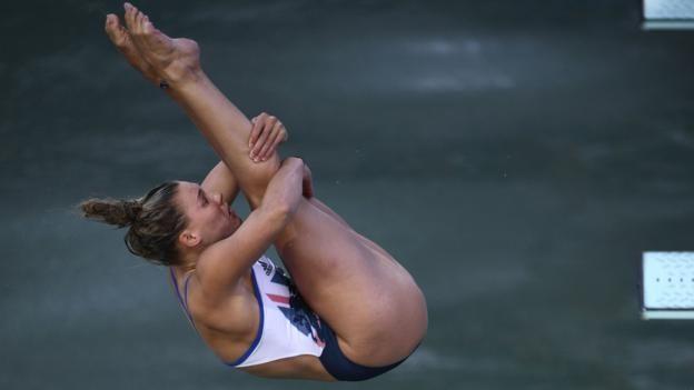 Great Britain's Grace Reid in the women's three-metre springboard at Rio 2016.
