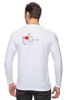 """Лонгслив """"Красное яблоео"""" - юмор, смешные, приколы, популярные, оригинально, футболка мужская, выделись из толпы"""