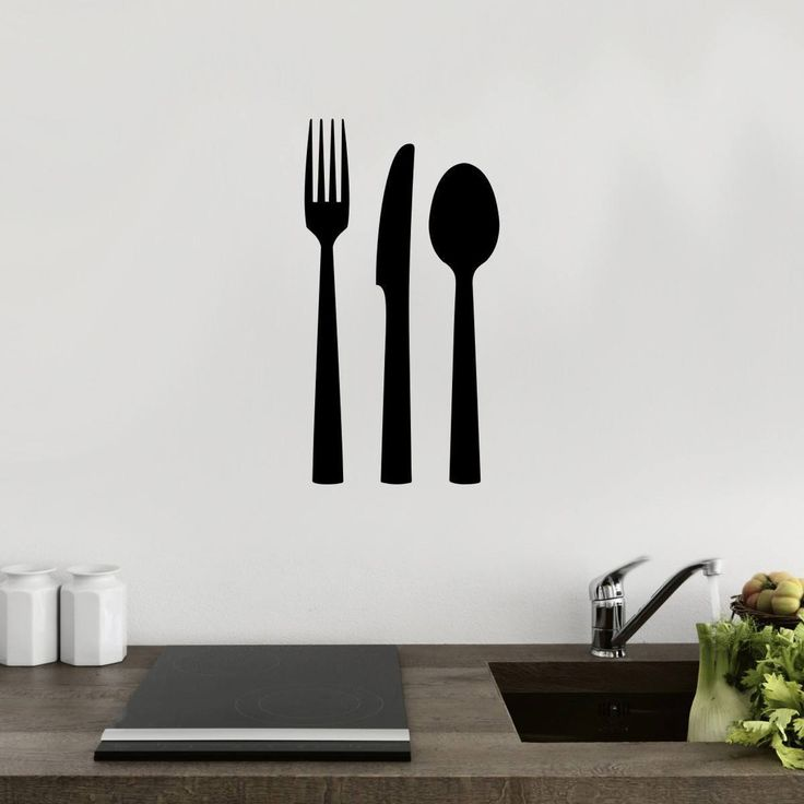 Best Kitchen Dining Room Decor Images On Pinterest Dining - Wall stickers for dining roomdining room wall decals wall decal knife spoon fork wall decal