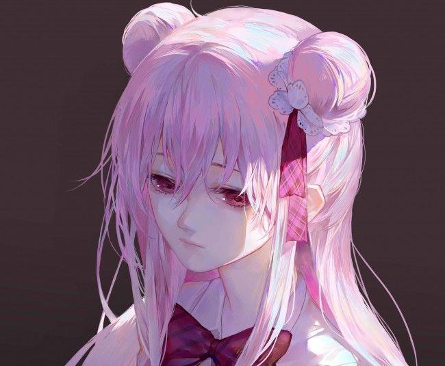 Satou Matsuzaka Happy Sugar Life Kawaii Anime Anime Pink Hair Anime