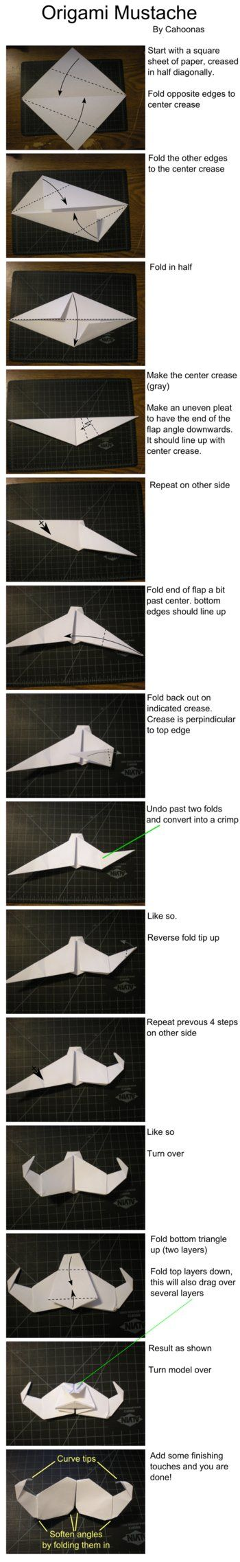 origami mustache instructions by cahoonas d4o2w5f