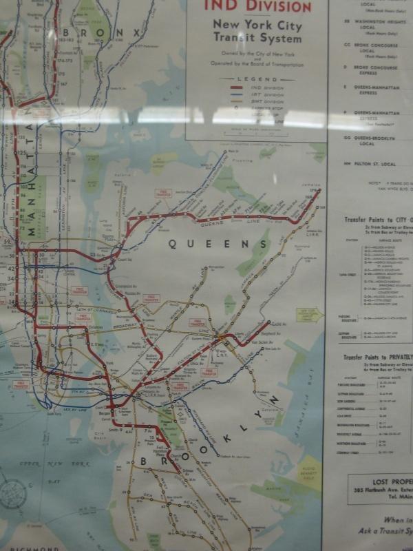 Vintage NYC subway map 25 best Vintage