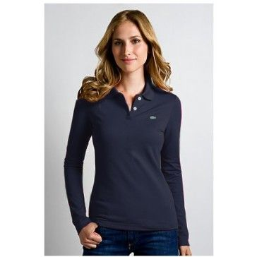 Classic Women Long Sleeve, Navy. Pique Polo ShirtWomen's Polo ShirtsPolo  Ralph Lauren ...