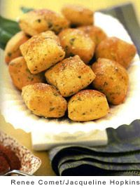 Cheese Beignets Recipe by the Vegetarian Times - cheese appetizer beignet