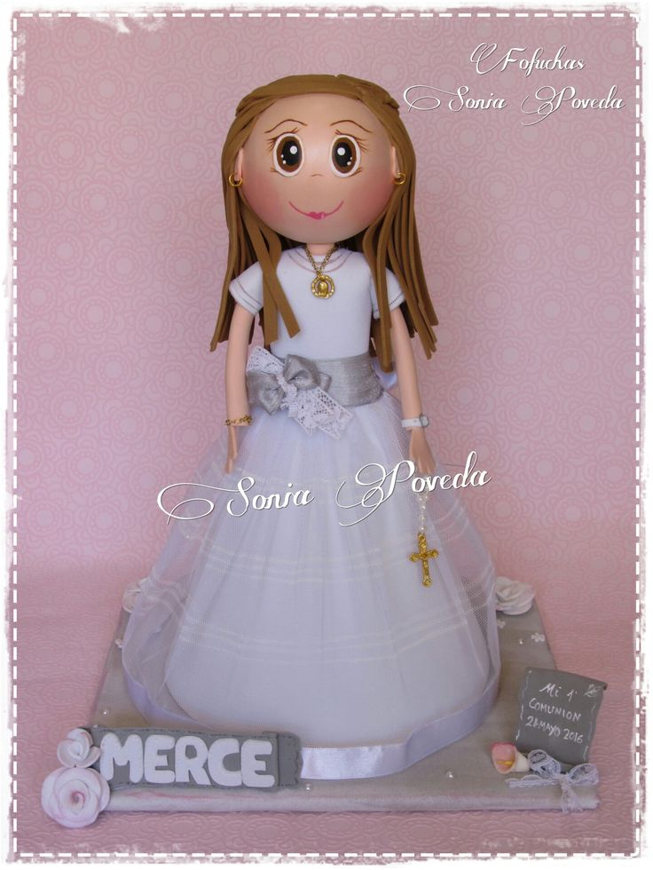 Fofucha comunión Merce www.facebook.com/FofuchasSoniaPoveda/?ref=hl