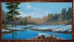 Весенняя проталина - Зимний пейзаж <- Картины маслом <- Картины - Каталог | Универсальный интернет-магазин подарков и сувениров