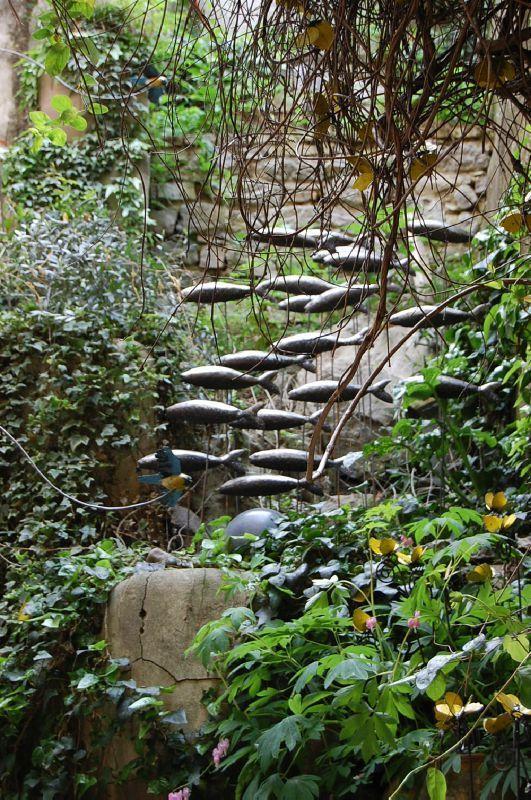 Fish Sculptures in the garden