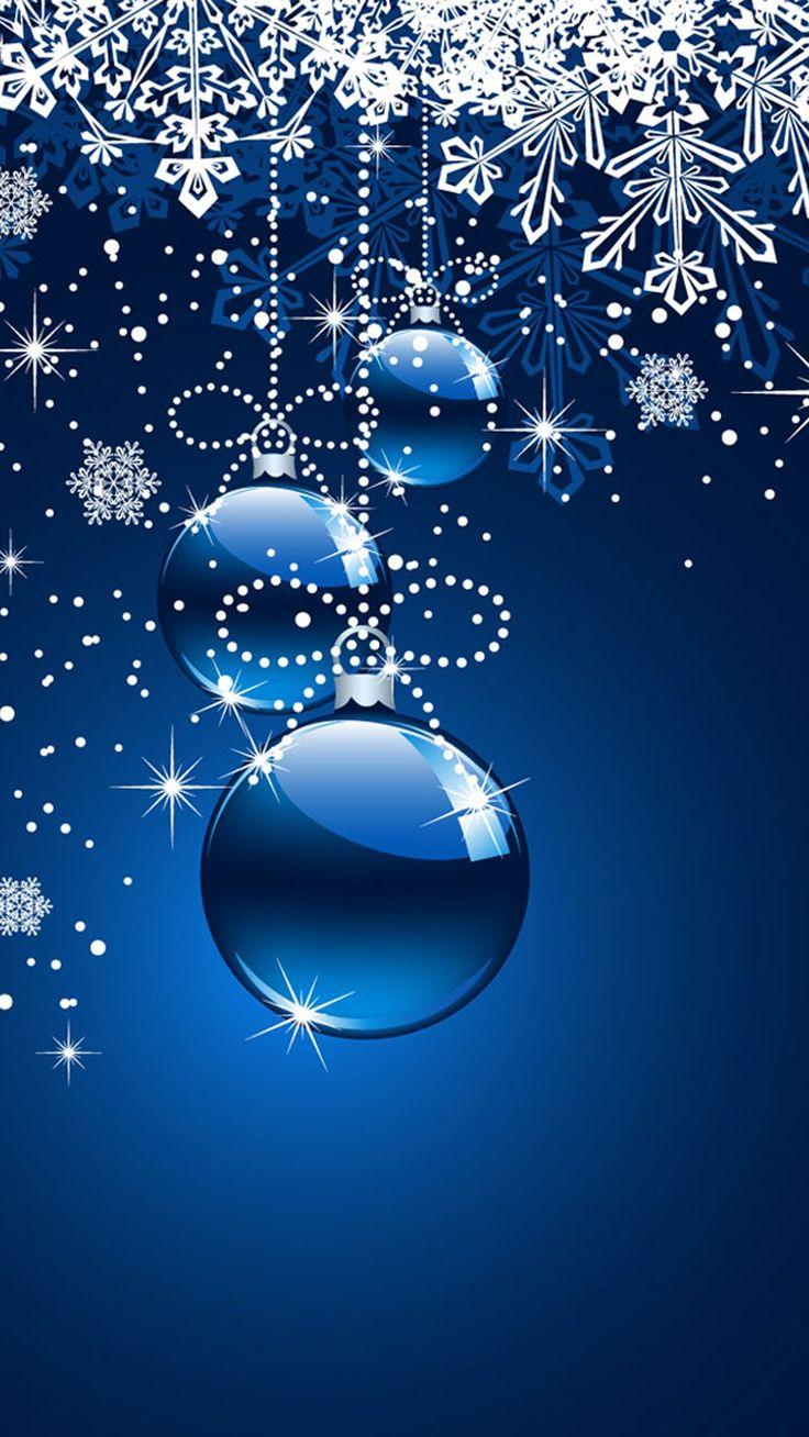 Christmas snowflake ornament phone wallpaper #wallpaper