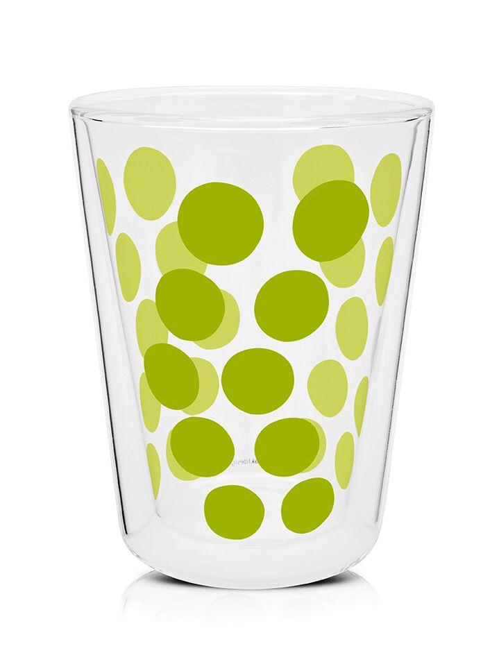 Dvoustěnná borosilikátová sklenka pro pohodlné pití horkých i studených nápojů od Zak!designs.
