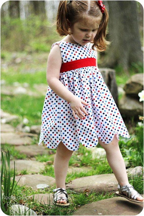 Annie Petal Dress Girls Dress PDF Pattern by PeekabooPatternShop, $7.95  Size 1-8