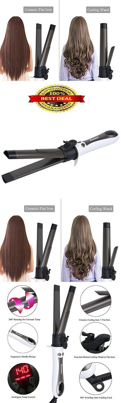 Straightening and Curling Irons: White Steam Flat Iron Professional Hair Straightener And Curler 2 In 1 Ceramic -> BUY IT NOW ONLY: $33.17 on eBay!