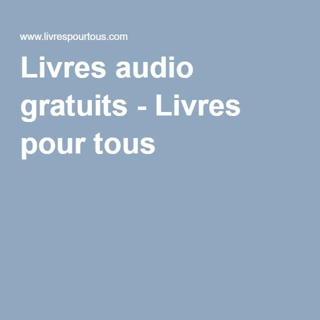 Livres audio gratuits - Livres pour tous                              …