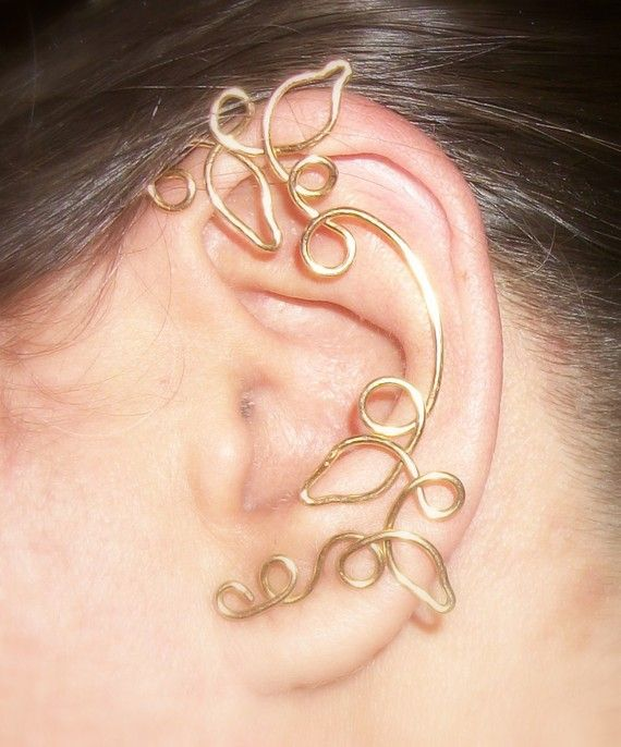 Ear Cuff Swirl Vine Wrap Sterling Silver by WickedlyWired on Etsy, $62.64