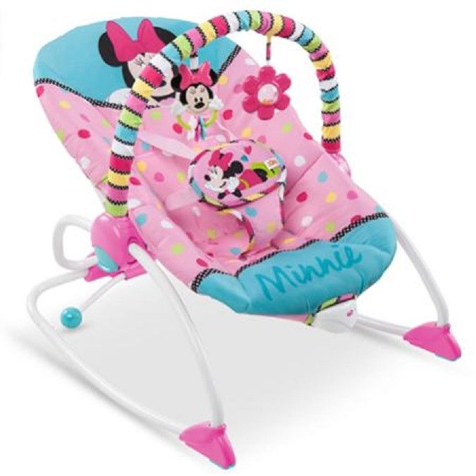 Disney Baby Minnie Mouse Folding Musical Bouncer This