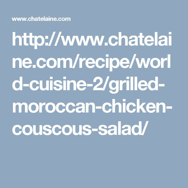 Grilled Moroccan chicken & couscous salad