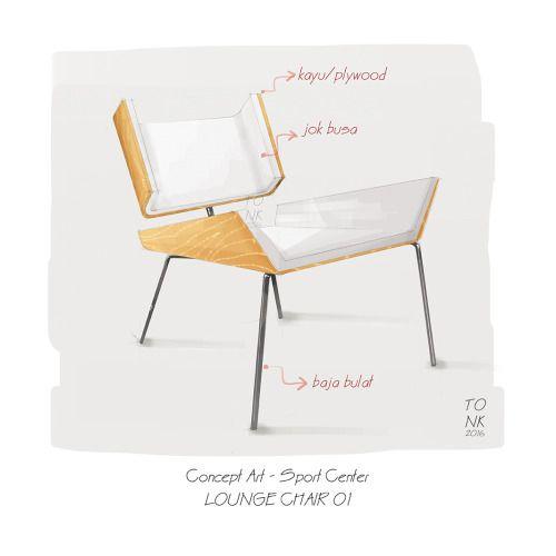 furniture illustration - digital painting