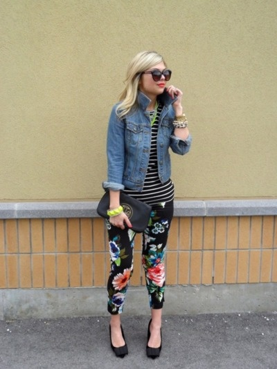 Spring Denim Trends: Printed