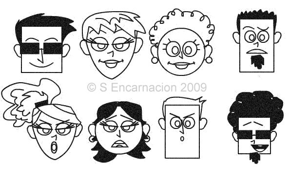 Learn to Draw Cartoon Faces Continued: Cartoon Face Combinations