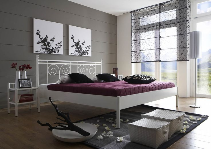 SAM® Metallbett weiß 160 x 200 cm Kos