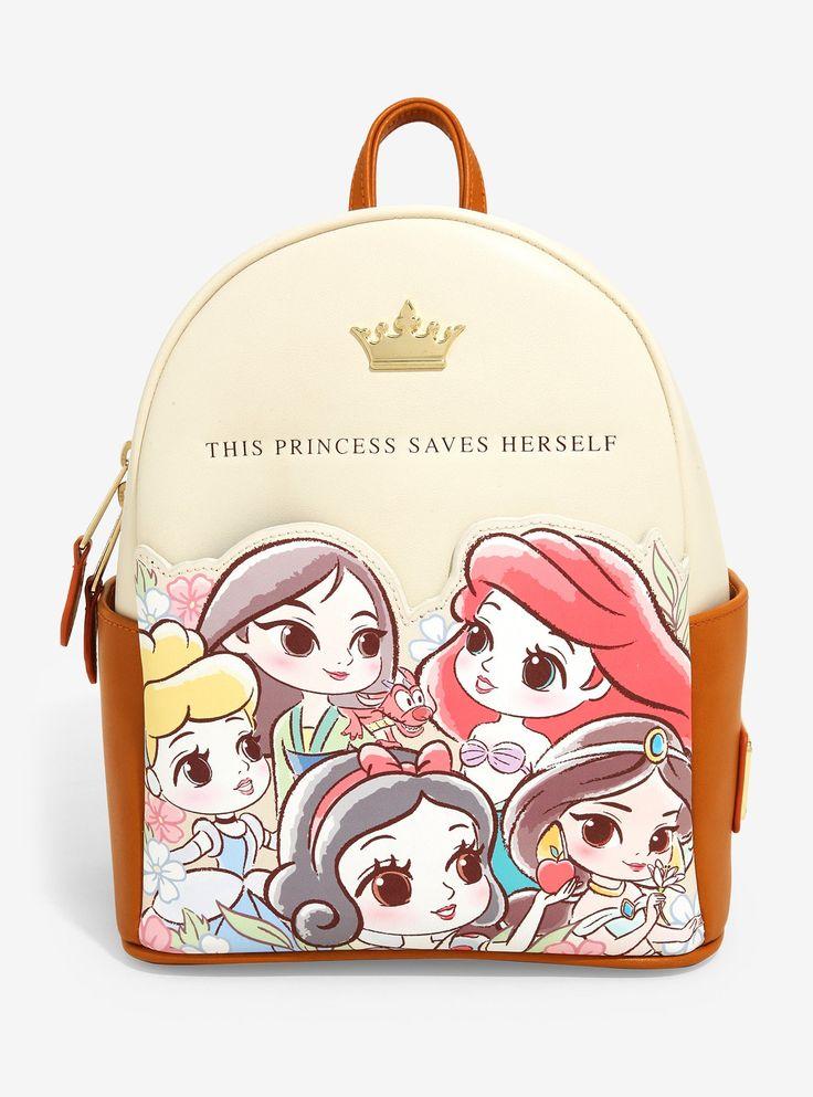 Loungefly disney princess chibi mini backpack boxlunch