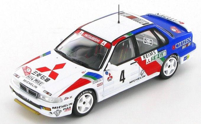 Mitsubishi Galant VR-4 - T. Salonen - V. Silander - 1991     A ambição do diamante   Foi com esta berlina, de grandes dimensões para um modelo de rali, que a Mitsubishi lançou o seu primeiro programa ambicioso a nível mundial. Pilotado pelo finlandês Timo Salonen, o carro ocupou o 8.º lugar da classificação geral no Rallye Monte-Carlo de 1991.