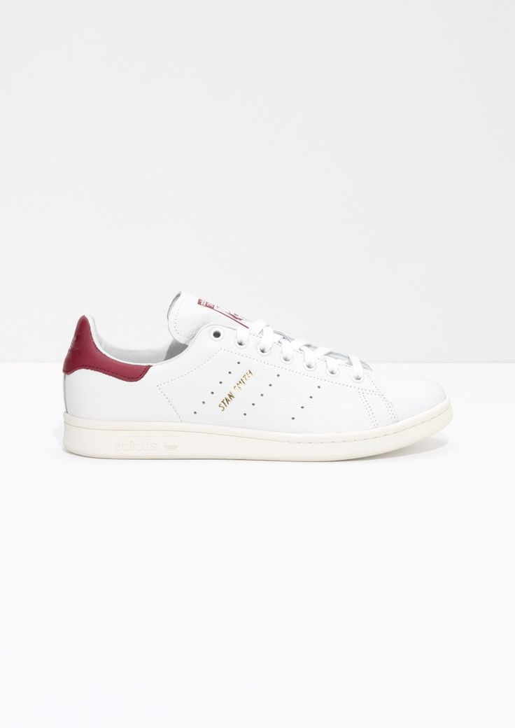 & Other Stories image 1 of adidas Stan Smith Sneakers in White/ Red