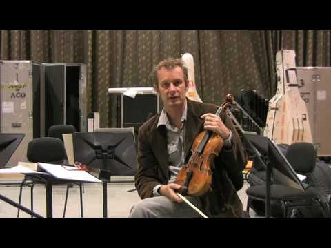 Richard Tognetti and the Australian Chamber Orchestra record Mozart for BIS Records - late 2010
